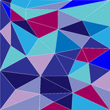 Abstract low poly background of triangles. In blue colors Stock Photo