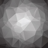 Abstract low poly black and white background Stock Images