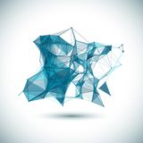 Abstract low poly geometric colorful bright Royalty Free Stock Photos