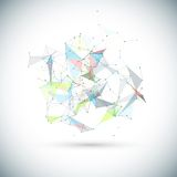 Abstract low poly geometric technology vector Stock Images