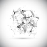 Abstract low poly geometric technology vector Royalty Free Stock Photography