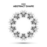 Abstract low poly geometric technology vector Stock Image
