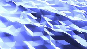 Abstract low poly green sea. Loopable. Blue royalty free illustration