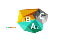 Abstract low poly infographics template. Abstract low poly infographics  template Stock Photo