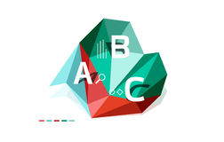 Abstract low poly infographics template. Abstract low poly infographics  template Royalty Free Stock Photography