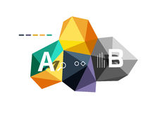 Abstract low poly infographics template. Abstract low poly infographics  template Royalty Free Stock Photos