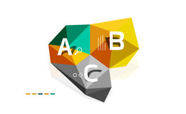 Abstract low poly infographics template Royalty Free Stock Images