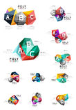 Abstract low poly infographics template Royalty Free Stock Photography