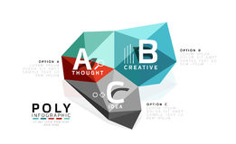 Abstract low poly infographics template. Abstract low poly infographics  template Stock Image