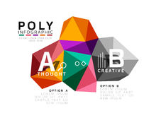 Abstract low poly infographics template Stock Photography