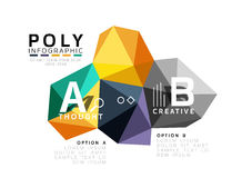 Abstract low poly infographics template Stock Image