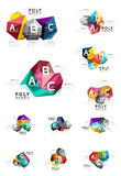Abstract low poly infographics template. Abstract low poly infographics  template Royalty Free Stock Photo