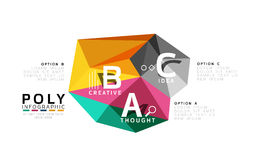 Abstract low poly infographics template. Abstract low poly infographics vector template Stock Photos