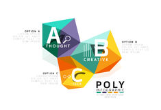 Abstract low poly infographics template. Abstract low poly infographics vector template Royalty Free Stock Images