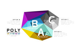 Abstract low poly infographics template Stock Photo