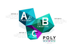 Abstract low poly infographics template. Abstract low poly infographics vector template Stock Image