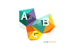 Abstract low poly infographics template. Abstract low poly infographics vector template Stock Photo