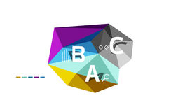 Abstract low poly infographics template. Abstract low poly infographics vector template Royalty Free Stock Photos