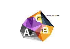 Abstract low poly infographics template. Abstract low poly infographics vector template Royalty Free Stock Photo