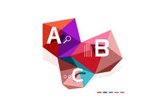 Abstract low poly infographics template. Abstract low poly infographics vector template Stock Photography
