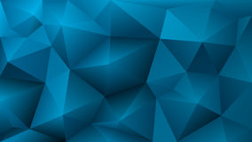 Abstract low poly light blue background of triangles Royalty Free Stock Photography