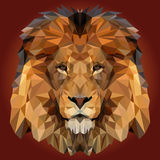 Abstract Low Poly Lion Design Royalty Free Stock Photo