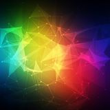 Abstract Low poly, Molecule And Communication Royalty Free Stock Photo