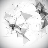 Abstract, low poly, Molecule And Communication. Background. Abstract white bright technology vector background. Connection structure. Vector science background Stock Photography