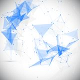 Abstract, low poly, Molecule And Communication. Background. Abstract white bright technology vector background. Connection structure. Vector science background Stock Images