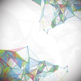 Abstract, low poly, Molecule And Communication Royalty Free Stock Photography