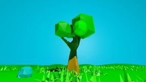 Abstract low poly nature landscape Royalty Free Stock Image