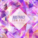Abstract low poly purple tone background vector art design Stock Photo