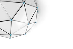 Abstract low poly sphere with connected dots Stock Photos