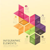 Abstract low poly style infographics Stock Images