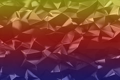 Abstract low poly triangles background in blue, red and yellow. Abstract low poly triangles. Geometric background in blue, red, yellow. Graphic design element Royalty Free Stock Images