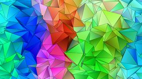 Abstract Low-Poly triangular modern background royalty free illustration