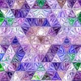 Abstract low poly violet geometric background ontinuous pattern. effect stained-glass window or patchwork. Low poly violet geometric background ontinuous pattern Royalty Free Stock Image