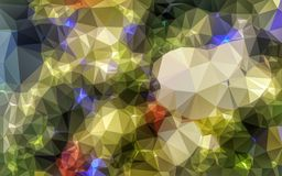 Abstract low poly wallpaper Stock Photography