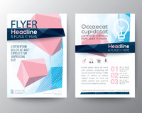 Abstract low polygon background for Poster Brochure Flyer design. Layout vector template in A4 size Royalty Free Stock Photos