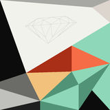 Abstract low polygon with retro color tone background Stock Images