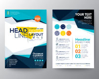 Abstract low polygon triangle shape Poster Brochure Flyer design Stock Image