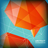 Abstract Low Polygonal Brain Shape Background Royalty Free Stock Photo