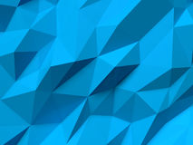 Abstract Lowpoly Background blue. Geometric polygonal background 3D illustration. Royalty Free Stock Images