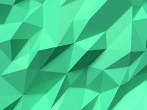 Abstract Lowpoly Background green. Geometric polygonal background 3D illustration. Stock Image