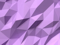 Abstract Lowpoly Background purple. Geometric polygonal background 3D illustration. Stock Image