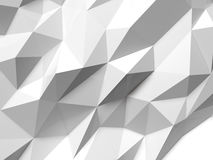 Abstract Lowpoly Background white. Geometric polygonal background 3D illustration. Stock Photos