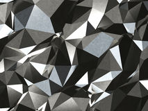 Abstract Lowpoly silver Background. Geometric polygonal background 3D illustration. Royalty Free Stock Photos