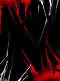 Abstract luminous red and white colors, black background Stock Photos
