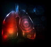 Abstract lungs. Lungs. Abstract medical wallpaper. Bright and bold design Stock Photography