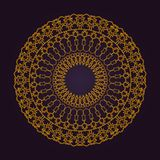 Abstract luxurious mandala ornament. golden geometric background royalty free stock photography